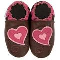 new soft soled baby leather shoes HEARTS (0-6 mo)