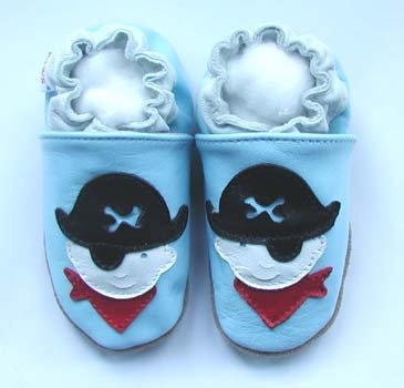 new soft sole baby leather shoes PIRATE (12-18 mo)