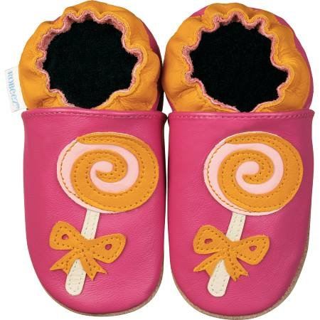 new soft sole baby leather shoes LOLLIPOP (6-12 mo)
