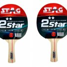 Stag 2 Star Table Tennis Racquets (Set of 2 Racquets)