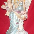 Angel and Cherub wrting on the Scroll Music Box