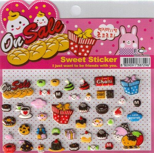 Korean Happy Foods Sweet Sticker Sheet # 1