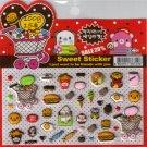 Korean Happy Foods Sweet Sticker Sheet # 2