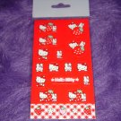 Hello Kitty Sanrio Strawberry Sticker Sheet