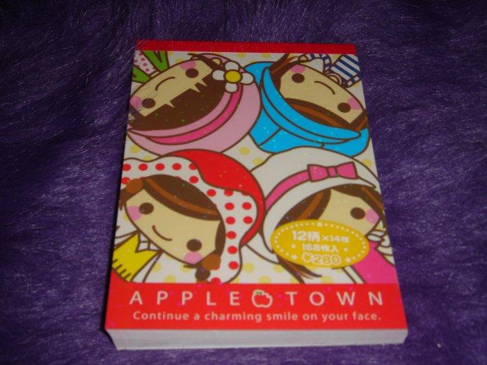 Crux Appletown Large Memo Pad Kawaii