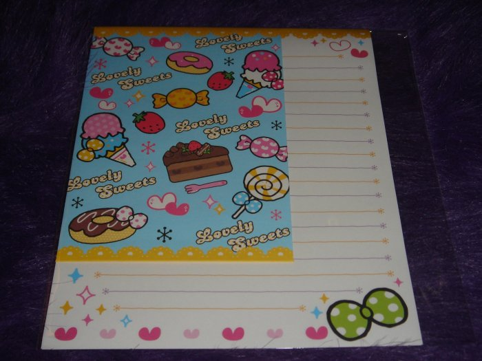 """Kamio Lovely Sweets """"Candy"""" Letter Set Kawaii"""