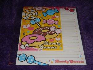"Kamio Lovely Sweets ""Doughnuts"" Letter Set Kawaii"