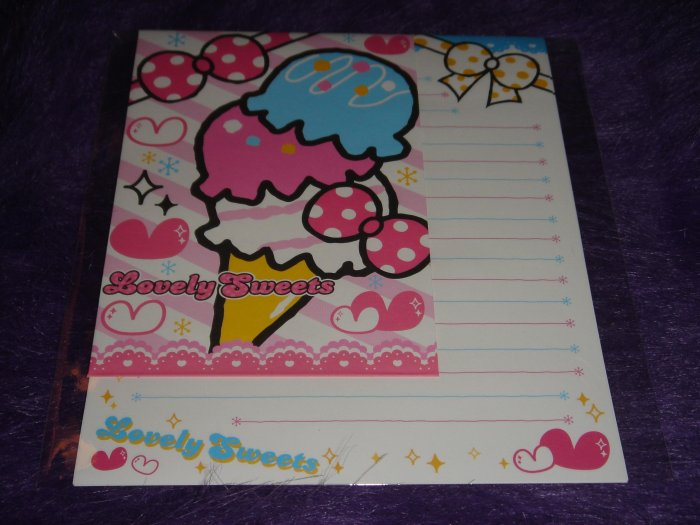 "Kamio Lovely Sweets ""Ice Cream"" Letter Set Kawaii"