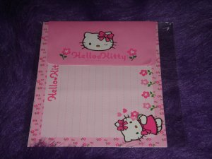 Sanrio Hello Kitty Pink Flowers Letter Set 1