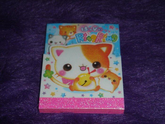 Q-Lia Ring Ring Kitty Mini Memo Pad Kawaii
