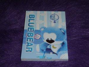 Morning Glory Blue Bear Mini Memo 1 Kawaii
