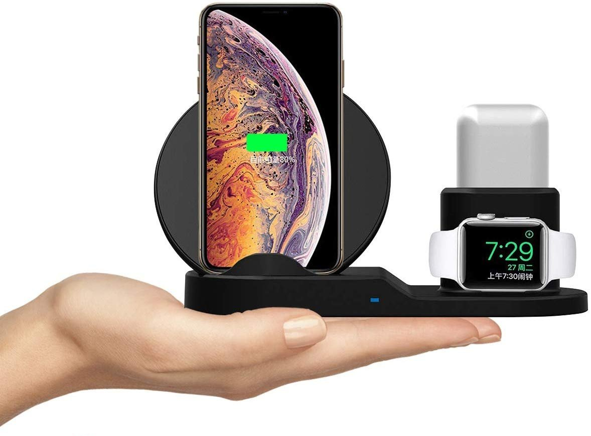 Multifunction Wireless Charger for Apple AirPods, Watch, iPhone XS Max, iPhone XR, iPhone 8 Plus
