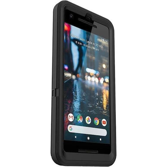 Black Defender Case for Google Pixel 2 (Not XL)
