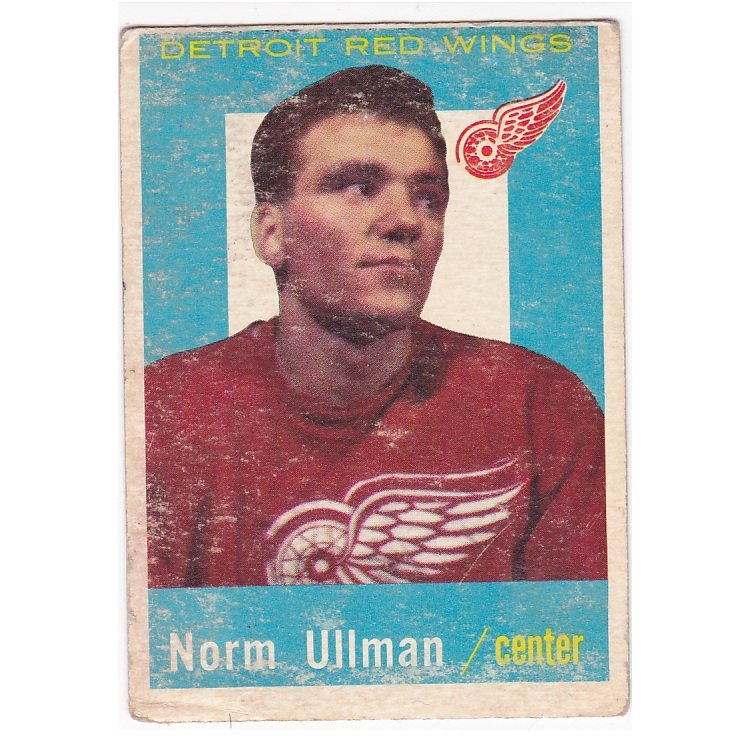 1959-60 Topps Hockey Card #45 Norm Ullman Detroit Red Wings 1958-59 Record