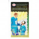 1964-65 Imperial Oil Esso NHL Hockey Schedule