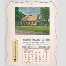 Vintage 1966 Kissner Milling Advertising Calendar with Thermometer Kitchener ON
