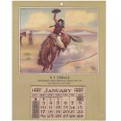 Waterloo Ontario R.T. Tindale Grocer 1921 Vintage Collectible Calendar