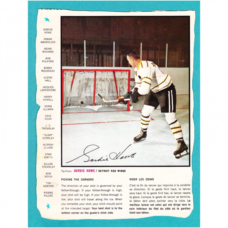 1966-67 General Mills Gordie Howe Hockey Action Photo