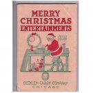 """Merry Christmas Entertainments"" 1917 Activities Book"