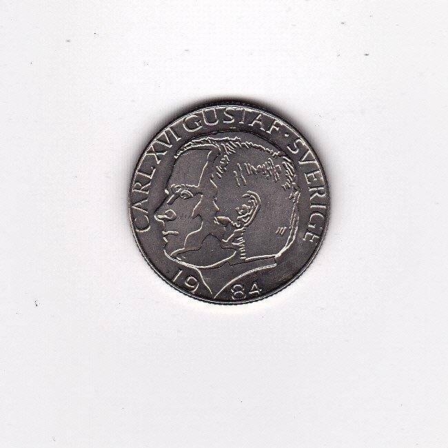 1984 SWEDEN (SVERIGE) 1 KRONA COIN