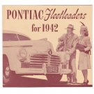 1942 PONTIAC FLEETLEADERS SALES BROCHURE BOOKLET