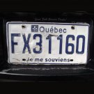 Vintage Quebec Licence Plate