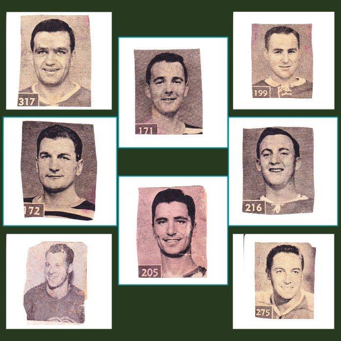 1961 Newspaper Hockey Photos with Gordie Howe