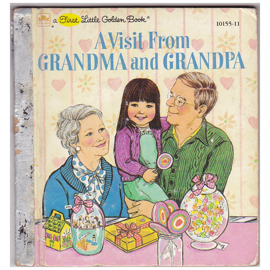 """First Little Golden Book """"A VISIT FROM GRANDMA AND GRANDPA"""" BOOK"""