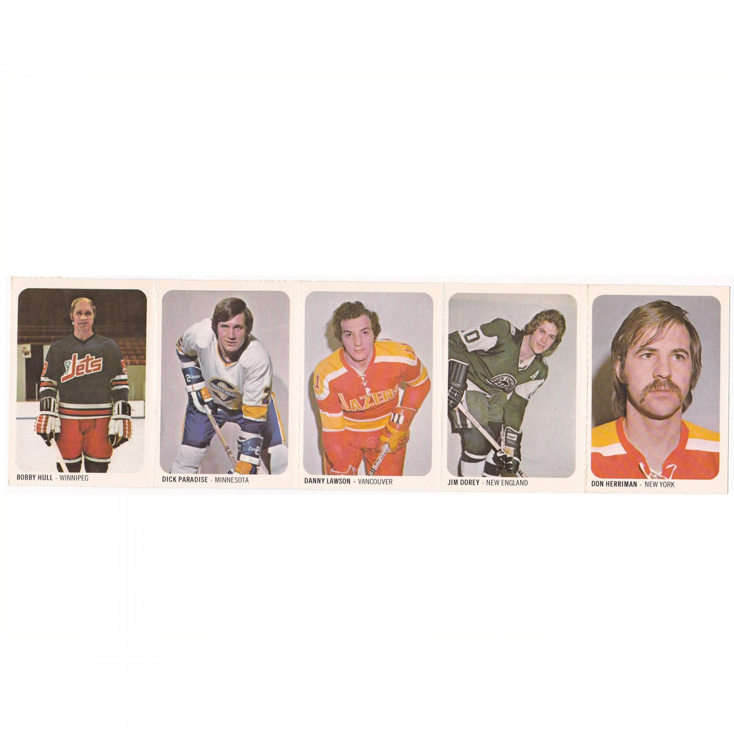 Bobby Hull plus 4 other WHA Hockey Cards #46 - 50