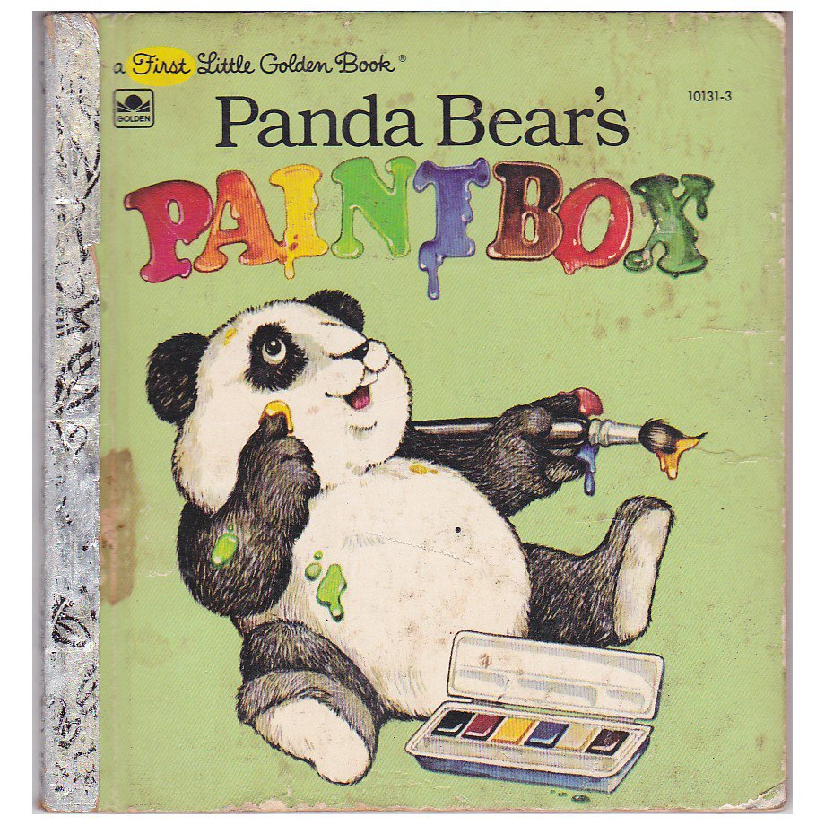 "1981 FIRST LITTLE GOLDEN BOOK ""PANDA BEAR'S PAINTBOX"" BOOK"