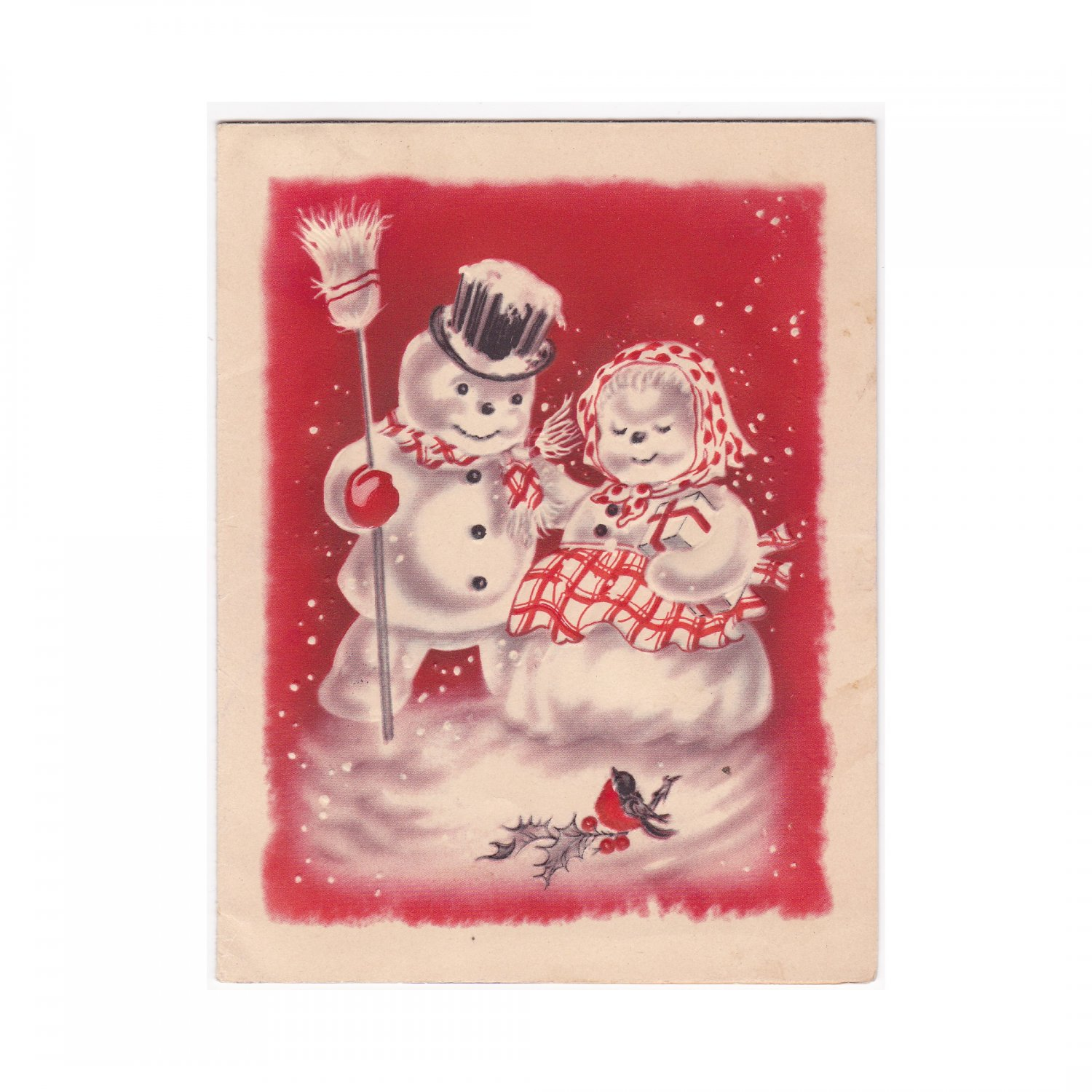 Vintage Christmas Picture Greeting Card