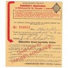 VINTAGE 1947 FARMER'S MAGAZINE TORONTO CANADA SUBSCRIPTION RECEIPT