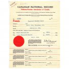 Vintage Canadian National Record Ottawa Canada