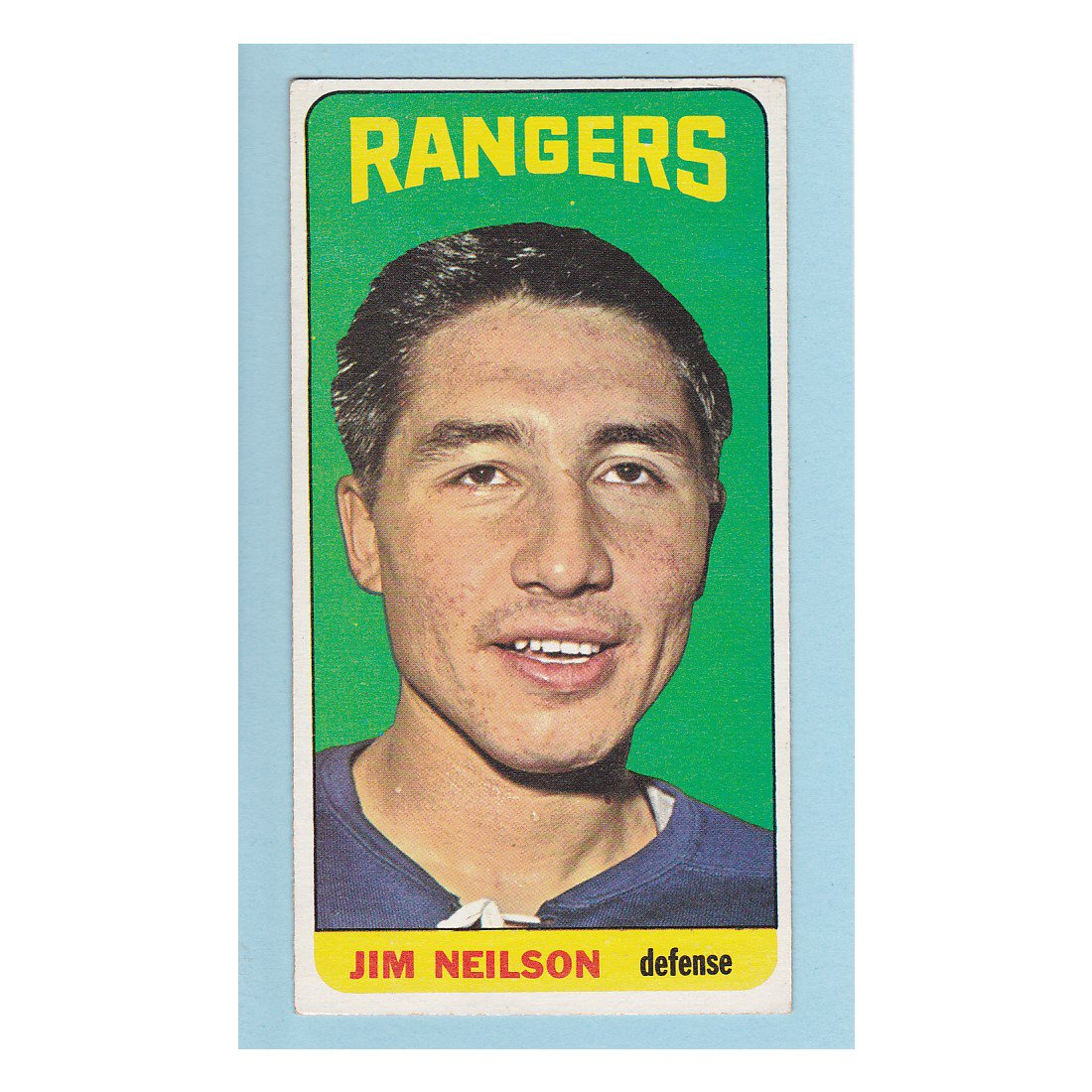New York Rangers Jim Neilson #103 Topps 1964 Hockey Card