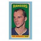 New York Rangers Don Marshall #97 Topps 1964 Hockey Card