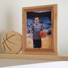 Personalized 5 x 7 Picture Frame with Carved Basketball, Picture Frame, Photo Frame