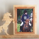 Personalized 5 x 7 Picture Frame with Carved Horse, Picture Frame, Photo Frame