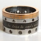 2 pcs Personalized Titanium Steel Couples Rings, Engagement Rings, Wedding bands, His and Her Rings