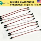New 10PCS 20cm Male to Male Quadcopter Servo Extension Lead Futaba JR Wire Cable