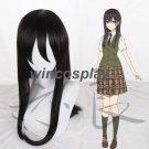 Citrus Aihara Mei cosplay wig Anime Long Hair black Cosplay Wig