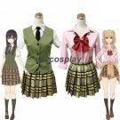 Citrus Aihara  Mei School Uniform Vest Shirt Skirt Full Set Cosplay Costume
