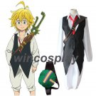 The Seven Deadly Sins Meliodas Suit Cosplay Costume With Bag