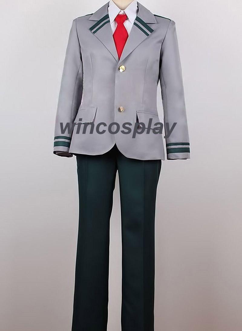 My Hero Academia Midoriya Izuku Ochako Uraraka School Uniform Cosplay Costume