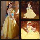 Anastasia cosplay costume Princess Anastasia yellow dress Halloween