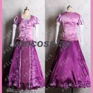 Princess Rapunzel Dress Tangled Adult Cosplay Costume Women Halloween