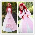 Beauty Dress--Ariel pink dress Ariel Cosplay Costume Halloween Ariel dress