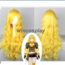 Cosplay wig Halloween Hair RWBY Yang Xiao long Cosplay wig Yellow wig