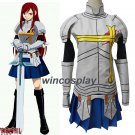Fairy Tail Erza Scarlet Cosplay Costume Erza  fighting costume for halloween party