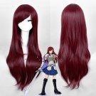 2 Colors FAIRY TAIL Erza Scarlet cosplay wig Long Dark Red Cosplay wig Shakugan no Shana cosplay Wig