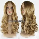 Princess Cinderella Long Curly dark golden Movie Cosplay Wig